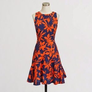 JCrew Factory Flared Dress In Floral